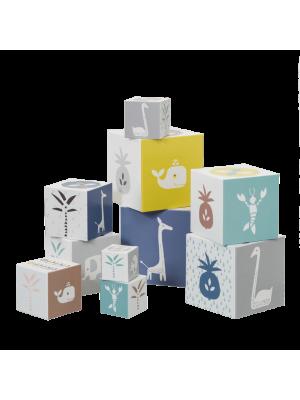 Igralne kocke za malčke Fresk, žirafa