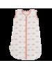 Spalna vreča iz bio muslina, bela z roza kitom, 0-6 m (68 cm)