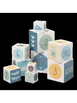 Igralne kocke za malčke Fresk, modre