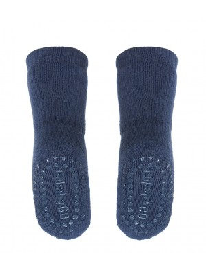 Antislip nogavičke iz bombaža, petrolej modra