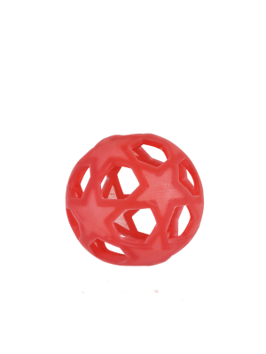 Hevea starball žogica iz naravnega kavčuka, rdeča