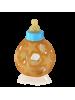 Hevea steklenička za dojenčke, 2v1 z žogico, modra