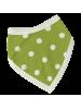 Slinček ali rutka, zelene pike, bio bombaž