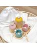 Leseni set čajnih skodelic, različne barve