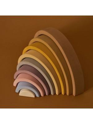 Lesena mavrica, 9 delna, peščene barve