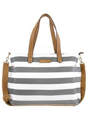 Previjalna torba White Elm, Aquila Stripe Gray