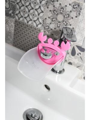 Podaljšek za armaturo umivalnika, roza